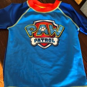 Paw Patrol size 3T short sleeve swim shirt